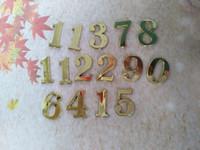 Quartz Analog arabic numbers clock - cm Clock Numbers Gold Arabic numbers for Clock Accessories