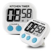 Wholesale ePacket Pack Digital Kitchen Timer Cooking Timers Clock Large LCD Display Batteries Included