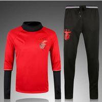 Wholesale Benfica Football Training suit Football clothes suit men sportswear survetement Football Long sleeve T shirt