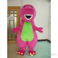 barney supplies - New Arrival Barney Dinosaur Mascot Costumes Halloween or Christmas Supply Cartoon Character Adult Size