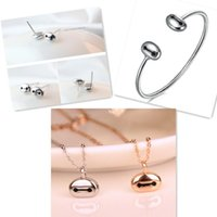 Wholesale 925 Sterling Silver Big Hero Baymax Bracelet Earrings Necklaces Jewelry Set For Women Accessories Cute Cartoon Bangle Ear Stud Necklaces