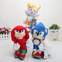 accessory sonic - Retail cm Sonic the Hedgehog Stuffed Plush Doll Toy red blue yellow