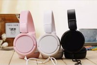 Wholesale MDR ZX110 With LOGO New Hot mm Ear Hook Headphone Headsets Phone Earphones For mobile phone cell bluetooth mp3 mp4 XIAOMI