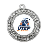 antique miner - NEW COLLEGE UTEP Miners SPORT team charm antique silver plated jewelry