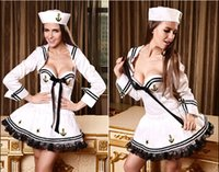 wholesale ds games - Sexy female navy sailor uniforms fun game uniforms temptation DS costumes DHL