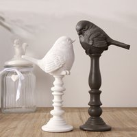 Wholesale Pure Handmade Crafts and arts New Design Top Quality Archaize Vintage Resin Furnishing Articles Resin home Decoration of Small Birds Home D