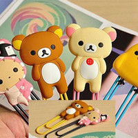 Wholesale Retail Packaging Cute Large Rilakkuma Chicken Youyou Rabbit Paper Clip Bookmark Office School Supplies Desk Accessories