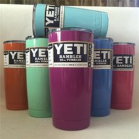 Wholesale DHL SF_Express multi color oz yeti cups for Yeti Rambler Tumbler Stainless Steel beer Mugs factory price