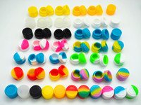 Wholesale 100pcs ml mini assorted color silicone container for Dabs Round Shape Silicone Containers wax