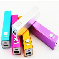 Wholesale 2600mAh Power Bank Charger Mobile Phone USB PowerBank External Backup Battery Chargers for Samsung iPhone HTC MP3