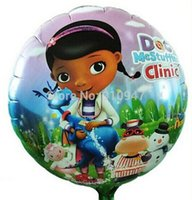 baby clinic - Cute Air Balloons Doctor Mcstuffin Clinic Balloon Helium Party Decoration Baby Toys Foil Balloons lovely gifts