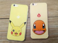 Wholesale Apple Phone Case for iPhone s plus Samsung S7 S6 note Poke Mon Go Phone Pikachu Jigglypuff Squirtle Charmander Snorlax