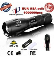 battery powered torches - CREE XML T6 UltraFire Lumens High Power LED Torch Zoomable LED Flashlights torch light for xAAA or x18650 battery Hot Selling