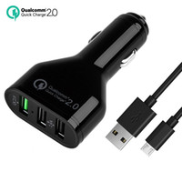 Wholesale Qualcomm Quick Charge USB ports V A Wall Charger USB Car Chargers For Samsung S6 edge NOTE LG