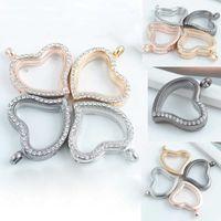 Wholesale Rhinestone Magnetic Memory Glass Living Locket Floating Pendant for Bracelet