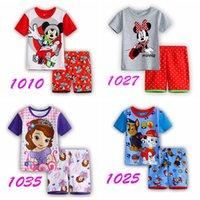 Wholesale 2016 New girls cartoon sofia short sleeve pajamas kids summer lovely t shirt short set children s casual sleepwear in stock