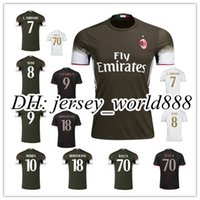 abate soccer - Top Thai quality AC Milan RD soccer jersey BACCA KAKA L ADRIANO SUSO LAPADULA ABATE Home away white football shirts