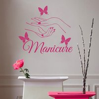 beauty salon names - E139 Beauty Hair Salon Nail Art Manicure butterfly hands Wall stickers Decal kids room Wall Personalized Name Nursery Decoration