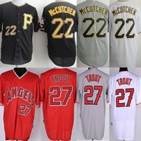 andrew mccutchen shirts - cheap sports Los Angeles Angels Mike Trout Men s Pittsburgh Pirates andrew mccutchen Jersey shirt sportswear size M L XL XXL XXXL
