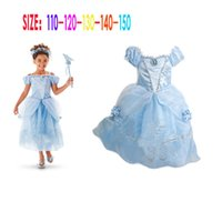 Halloween filles princesse de neige longue robe de princesse de cheveux Sleeping Beauty Print Princess Dress wholesale