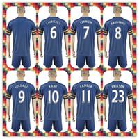 away silver - Tottenham Uniforms Kit Soccer Jersey Mason Kane Lamela Alli Lloris Eriksen Away Blue Jerseys