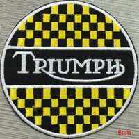 Wholesale Triumph custom logo patch iron on cloth hat or bag can be custom embroidery factory in china