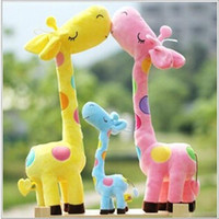 bear figurines - 28cm Plush Toys Lovely Giraffe Figurines Stuffed Animals Baby Toys Gifts For New Year