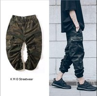 big mens camo clothing - outdoor paintball big and tall kanye west hip hop urban clothing mens joggers camo cargo XXXL jogging pants camouflage