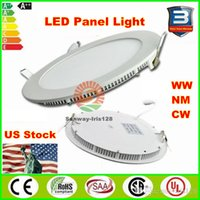 Wholesale Led Round Ceiling Light 18w - LED panel lights 3w 6w 9w 12w 15w 18w Ultra thin downlight dimmable led panels round square indoor lighting recessed Led ceiling downlights