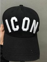 Wholesale 2016 New Styles Top Cap Baseball Adjustable Sunless Caps Snapback Black Hat Men Women ICON Embroidery Logo Hat