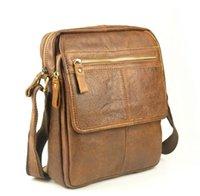 Wholesale Retro Men s Leather Schoolbags Shoulder Bag Package Briefcase
