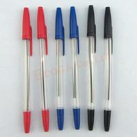Wholesale 0 mm Black Red Blue Biros Ballpoint Medium Pens Stationery school BULK CLEARANCE JOB Office Various Color