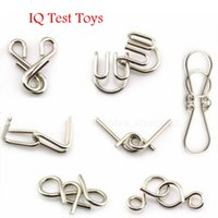 animal testing games - 7 Sets IQ Test Toys Metal Wire Puzzles Toy Mind Game Brain Teaser Adult Kid Grownups Eduactional Toys Kids Toys High Quality