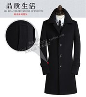 Wholesale 2016 new arrival Winter wool coat men s spuer large slim overcoat casual cashmere thermal trench outerwear plus size S XL8XL9XL