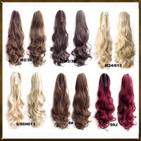 Wholesale Claw clip ponytail Synthetic Long Wavy Drawstring False Ponytail natural Hair Extension Fake Tress Hairpieces Little Pony Tail