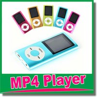 Wholesale MP3 MP4 Player Slim TH quot LCD Video Radio FM Player Support GB GB GB GB Micro SD TF Card Mp4 th Genera OM D8