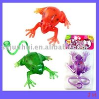 Wholesale 2016 squeeze novelty plastic frog toy Novelty Gag Toys FreeShipping