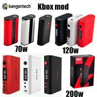 Wholesale Original kanger kbox w W w box mod w two battery thread fit smok tfv4 atomizer VS snowwolf w sigelei fuchai w