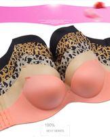 Cheap 2016 NEW style women's underwear lingerie MOXIAN brand bra no rims bras Seamless leopard bra Beautiful strap gather 32-38 size B cup 0270