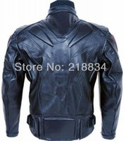 Wholesale New Cool PU professional motorcycle racing Jacket motocross jacket with protection black color top quality