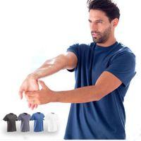 Wholesale New Brand Outdoor Coolmax Short Sleeve Quick Drying Hiking T shirt For Men Camping Hiking Man Tshirt XS XXL Drop Shipping