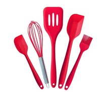 Wholesale baking utensil set HOT and high quality piece silicone baking utensil set kitchen tool kits including spatula brush egg whisk