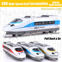 Wholesale 1 Scale Luxury Diecast Alloy Metal Car Model For CRH Railway High Speed Rail Locomotive Train Collection Model Pull Back Toys