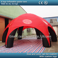 Wholesale M inflatable spider tent legs inflatable party advertising dome events tent