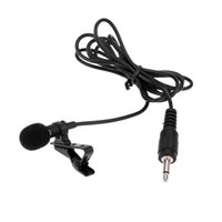 Wholesale Super Lapel Lavalier Tie Clip Metal Mono Microphone high quality mm with Collar Clip for Lound Speaker