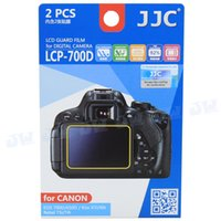 Wholesale JJC Anti smudge reflect scratch LCD Film Screen Protector Cover for Canon EOS D D D Kiss X8i X7i X6i Rebel T6i T5i T4i