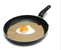 Wholesale Pan Mat Non stick round pan liner sheet PTFE frying pan liner round cm