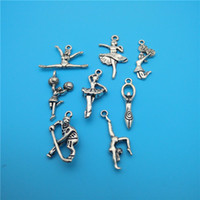 Charms European Beads Animals Mixed Tibetan Silver Motion Ballet Girl Cheerleaders Charms Pendants Jewelry Making Bracelet Necklace Fashion Popular Jewelry Accessories D