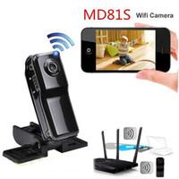 Wholesale Hot spy Wireless IP WiFi Portable Camera MD81S Mini WiFi Camcorder Mini DV Micro IP Voice Video Recorder hidden Micro Cam Camera