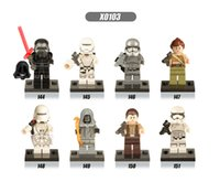 Wholesale Star Wars awakening force minifigures kid legos set of anime figure Kids block toy DHLink freeshipping